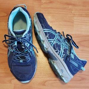 Asics Gel navy & mint green tennis shoes